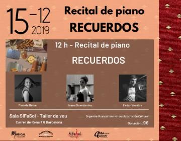Recital de piano RECUERDOS