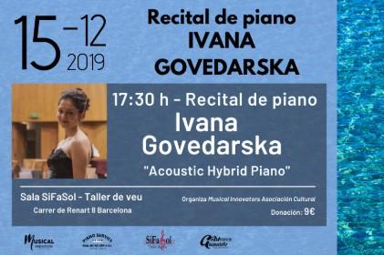 Recital de piano Ivana Govedarska
