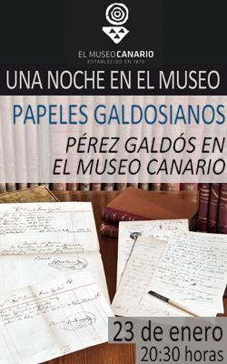 EL MUSEO CANARIO - UNA NOCHE EN EL MUSEO - PAPELES GALDOSIANOS