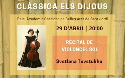 Recital de violoncel sol.