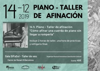 Piano - Taller de afinación